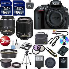 NEW Nikon D5300 Digital SLR Camera 5 Lens NIKON 55-200 DX  32GB. TOP BUNDLE+XTRA