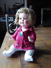 "Heubach Koppelsdorf 320 9/0 12"" Cabinet size Antique doll."