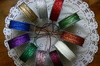 String Metallic 5; 8 & 10 Metre Lengths 2-3mm Wide 10 Colour Choice ALD8 - 14