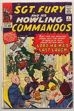 Sgt. Fury & His Howling Commandos #4 (1963) Very Good (4.0) ~ Marvel