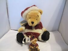 "Boyds 12"" Disney Classic Santa Pooh Bear w/ Resin Ornament - original box"