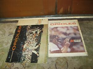 1962 and 1964 BALTIMORE ORIOLES Yearbook