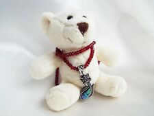 Faceted Red Topaz natural gemstone Necklace Abalone Shell Cat Pendant