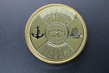 Vintage Brass 50 Year Calendar 1987 - 2036  Paperweight  Desk Top Accessory