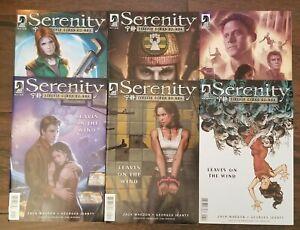 SERENITY LEAVES ON THE WIND comics 1 2 3 4 5 6. FULL SET. NM. Near Mint.