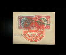 Malaya/Straits Settlements KGVI $1 & $2, fiscally used in Singapore.