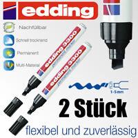 Edding 3300 schwarz Permanent Stift wasserfest 2 Stück