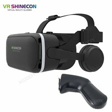 3D VR Headset Virtual Reality VR SHINECON 6.0 For Android IOS Phone + Gamepad