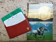 Rolex Full Set DJ Datejust ENG red Card Holder Wallet Booklet Calendar - NOS