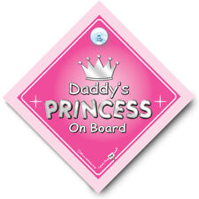 Daddy's Princess On Board Novelty Car Sign. BABY iwantthatsignLTD. Huge Saving