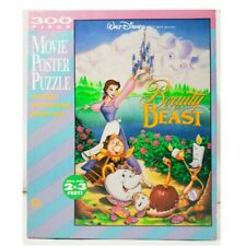 VTG 1991 Disney's Beauty & the Beast 2'x3' Movie Poster 300 Pc Puzzle Complete