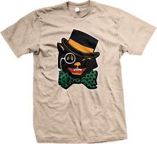 Black Cat Bow Tie Top Hat Halloween Monocle Trick Treat Candy Cute Men's T-Shirt