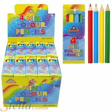 30 Packs Of 4 Kids Mini Colouring Wooden Pencils Party Bag Filler Art Craft Toy