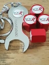 VAUXHALL VXR Wheel Valve Dust caps Spanner/Keychain RED retail pack ASTRA CORSA