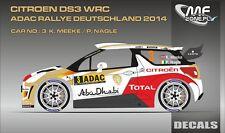 DECALS 1/43 CITROËN DS3 WRC #3 - MEEKE - RALLYE ADAC ALLEMAGNE 2014 - MFZ D43342