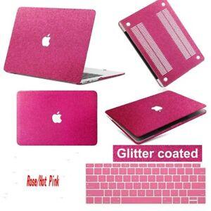 Shinny Glitter Rainbow Laptop Hard Glitter Case KB Cover For New Macbook Pro Air