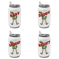 Christmas Elf Funny Novelty Gift Thermos Can - Male Titles