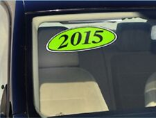 Car Lot Windshield Oval Model Year Stickers (20 packs) Chartreuse and Black