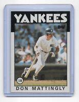 DON MATTINGLY ~ 1986 Topps Baseball Trading Card #180 ~ New York Yankees