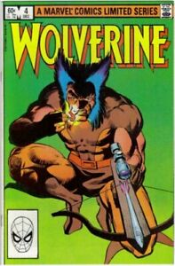 Wolverine mini series #4 1982 Frank Miller NM/M key marvel issue