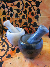 Marble Mortar & Pestle for Herbal and Kitchen Witchery - Various Sizes.