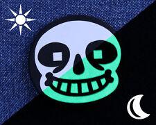 Glow in the Dark Undertale Button - Sans Button - Sans Pin - Undertale Pin