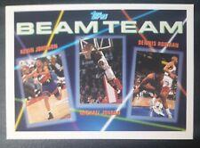 1992-93 Topps Beam Team Dennis Rodman Michael Jordan Kevin Johnson #3 SET BREAK