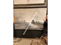 """XXL 73"""" EVENING MIST HAND PAINTED CANVAS MODERN FRAME WALL ART UTTERMOST"""