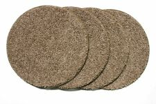 "Set 4 Children'S Crazy Carpet Circle Seats 25 Oz. Taffy Apple Beige -18"" Round"