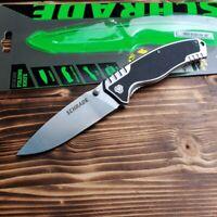 Schrade Stonewash Finish Stainless Handle Linerlock Folding Pocket Knife SCH305
