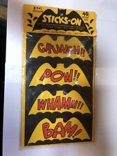 Vintage Original Batman Collectible 70s Decals. Sealed Header Card Free Shipping