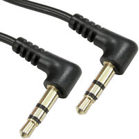 1m 3.5mm Male to Car AUX Plug Stereo Cable/Lead– Right Angled Connectors 90 Deg