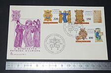 ENVELOPPE 1er JOUR PHILATELIE 1980 VATICAN SAN BENEDETTO PATRONO D'EUROPA