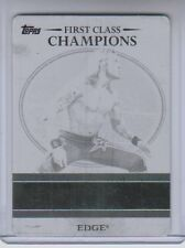 2012 Topps WWE Black Printing Plate Edge 1/1 RARE NM Condition