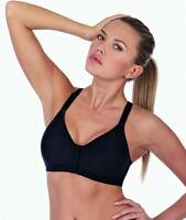 Triumph Active Star Front Fastening Sports Bra 10119384 Black SALE