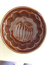 Pumpkin Imprint Baking Bowl, Brown Glazed, Oven Proof, Crate & Barrel