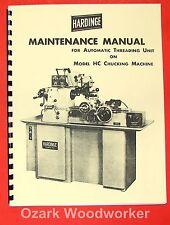Hardinge Hc Automatic Threading Unit Service Amp Maintenance Manual 0938