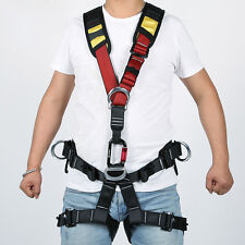 Professional Adult Full Body Climbing Caving Sit Harness Gear Rescue Safety Belt