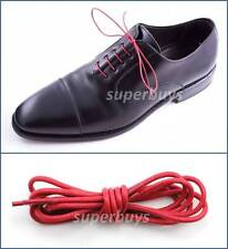 "Red 80cm Round Wax Waxed Cotton Shoe Work Boot Cord Dress Laces 32"" 3/4 Eyes"