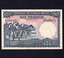 Belgium Belgian Congo 10 Francs 1949  P-14E  EF