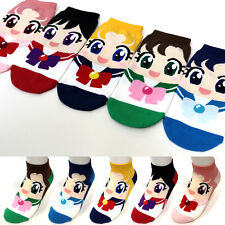 5 Pairs Women's Girls Sailor Moon Cartoon Character Socks Animation Korea Socks