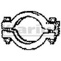 Klarius Exhaust Mounting Clamp Collar 66mm 430483 - BRAND NEW - 5 YEAR WARRANTY