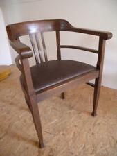 Jugendstil Armlehnstuhl um 1900 Schreibtisch Stuhl alt Sessel Armchair antik N2