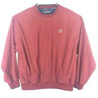 VTG Tommy Hilfiger Golf Mens Size L Crewneck Windbreaker Pullover Jacket Maroon