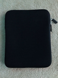 """Black Neoprene Zip Case Cover Sleeve Pouch For 10.9"""" iPad or tablet"""