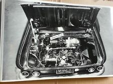 "12 By 18"" Black & White Picture Corvair Engine shot Ohio Plates"