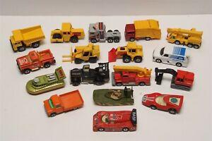 Vintage Original Matchbox Superfast lot of 17 Cars, Construction Trucks Vehicles