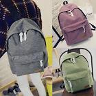 Women's Canvas Satchel Shoulder Backpack School Rucksack Bags Travel Fashion