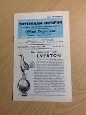 League Division One - Tottenham Hotspur v Everton - 24th March 1962