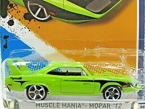 HOT WHEELS 2012 MUSCLE MANIA SERIES 70 PLYMOUTH SUPERBIRD